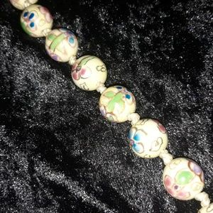1930s vintage Chinese ceramic beaded necklace